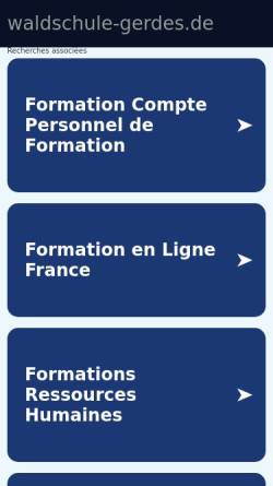 Vorschau der mobilen Webseite www.waldschule-gerdes.de, Waldschule Gerdes e. V.