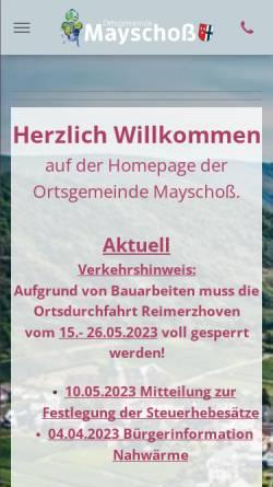Vorschau der mobilen Webseite www.mayschoss.de, Mayschoss