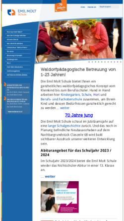 Vorschau der mobilen Webseite www.emil-molt-schule.de, Emil Molt Schule
