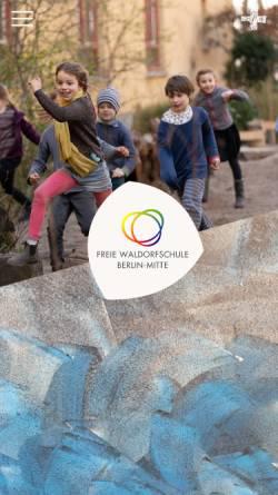 Vorschau der mobilen Webseite www.waldorfschule-mitte.de, Freie Waldorfschule Berlin-Mitte