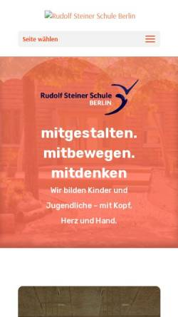 Vorschau der mobilen Webseite dahlem.waldorf.net, Rudolf Steiner Schule