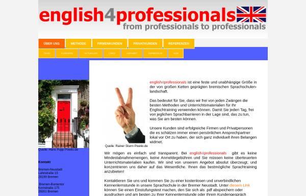 Vorschau von www.english4professionals.de, English4professionals