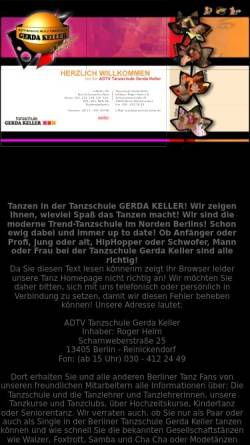 Vorschau der mobilen Webseite www.gerda-keller.de, Tanzschule Gerda Keller - Inh. Jürgen Helm