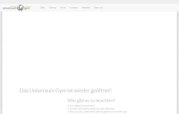 Vorschau von www.universum-gym.de, Universum Gym