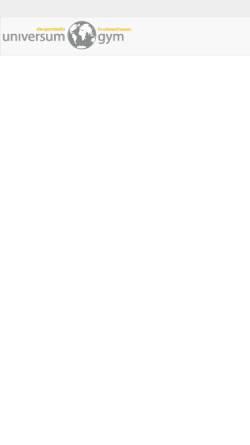 Vorschau der mobilen Webseite www.universum-gym.de, Universum Gym