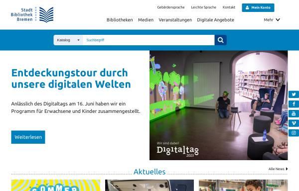 Vorschau von www.stabi-hb.de, Stadtbibliothek Bremen