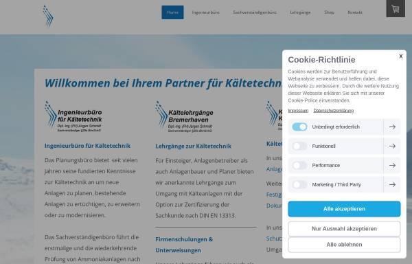 Vorschau von www.kaeltelehrgaenge-brhv.de, Deutscher Kälte- und Klimatechnischer Verein, Bezirk Weser/Ems