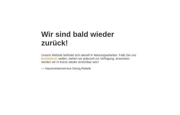 Vorschau von www.hausmeisterservice-rebele.de, Hausmeisterservice Rebele