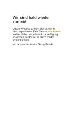 Vorschau der mobilen Webseite www.hausmeisterservice-rebele.de, Hausmeisterservice Rebele