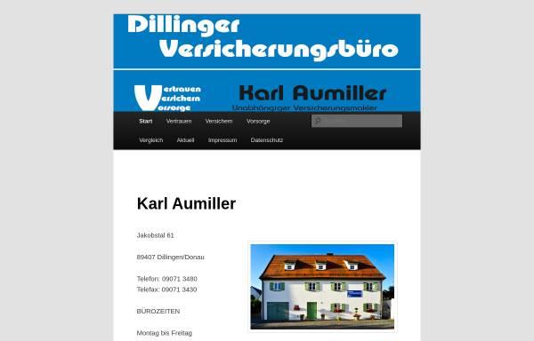 Vorschau von www.karl-aumiller.de, Aumiller Versicherungsbüro