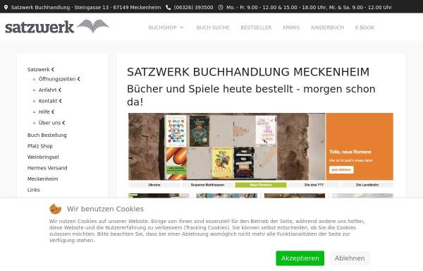 Vorschau von www.satzwerk24.de, Satzwerk Buch- & Copyshop