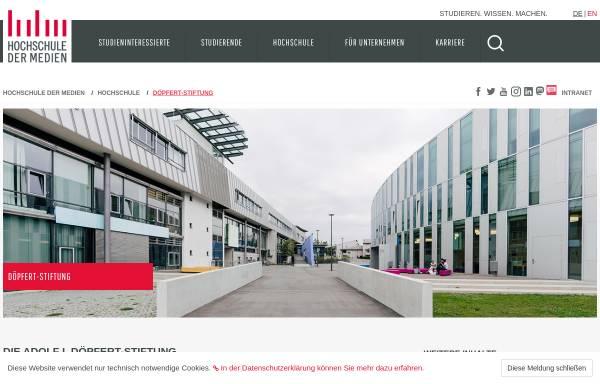 Vorschau von www.hdm-stuttgart.de, Adolf I. Döpfert Stiftung