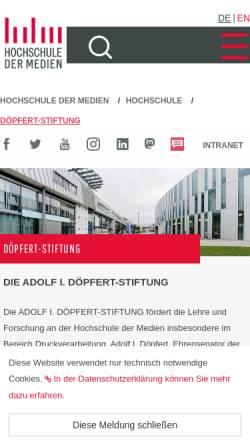 Vorschau der mobilen Webseite www.hdm-stuttgart.de, Adolf I. Döpfert Stiftung