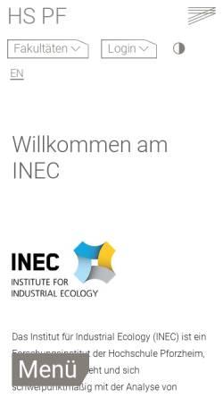 Vorschau der mobilen Webseite umwelt.hs-pforzheim.de, Arbeitsgruppe Stoffstrom- und Umweltmanagement