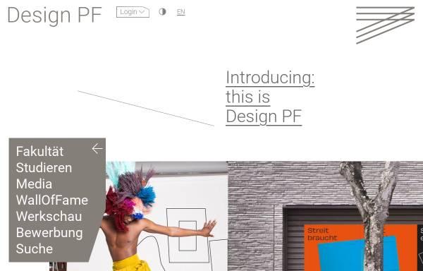 Vorschau von www.hs-pforzheim.de, Fakultät für Gestaltung