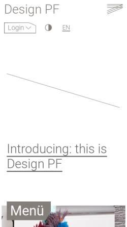 Vorschau der mobilen Webseite www.hs-pforzheim.de, Fakultät für Gestaltung