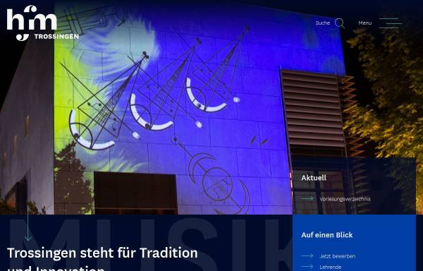Vorschau von www.mh-trossingen.de, Staatliche Hochschule für Musik Trossingen