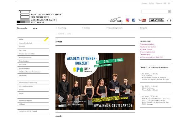 Vorschau von www.mh-stuttgart.de, Staatliche Hochschule für Musik und Darstellende Kunst Stuttgart