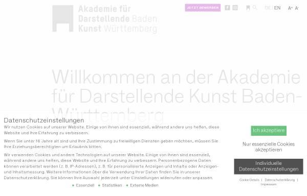 Vorschau von adk-bw.de, Akademie für Darstellende Kunst Baden-Württemberg GmbH
