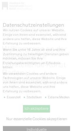 Vorschau der mobilen Webseite adk-bw.de, Akademie für Darstellende Kunst Baden-Württemberg GmbH