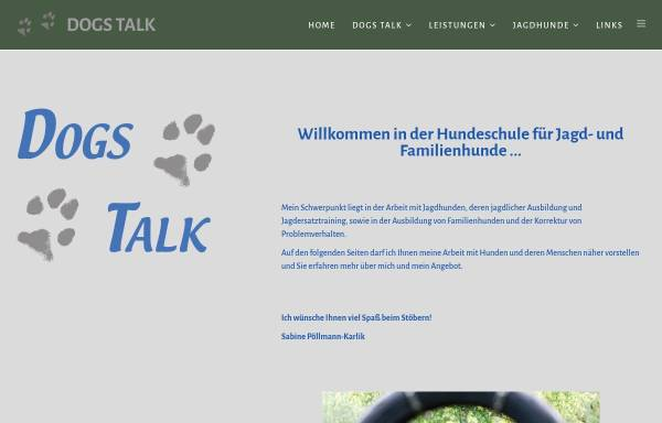 Vorschau von www.dogs-talk.at, Dogs Talk