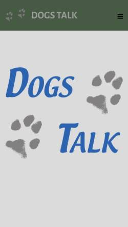 Vorschau der mobilen Webseite www.dogs-talk.at, Dogs Talk