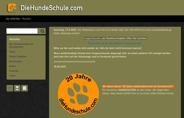 Vorschau von diehundeschule.com, Die Hundeschule beim Schottenhof