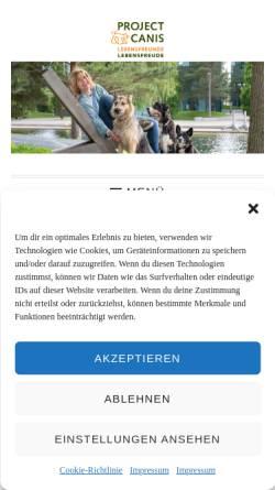 Vorschau der mobilen Webseite www.project-canis.at, Hundeschule Project Canis