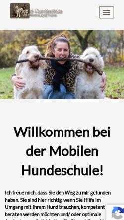 Vorschau der mobilen Webseite www.mobile-hundeschule.at, Mobile Hundeschule