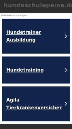 Vorschau der mobilen Webseite www.hundeschulepeine.de, Hundeschule Andreas Peine