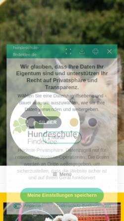 Vorschau der mobilen Webseite www.hundeschule-findeklee.de, Hundeschule Findeklee