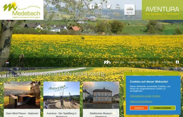 Vorschau von www.medebach-touristik.de, Touristik GmbH Medebach