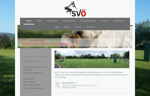 Vorschau von www.svoe-zeiselmauer.at, Österreichischer Verein für Deutsche Schäferhunde in Zeiselmauer