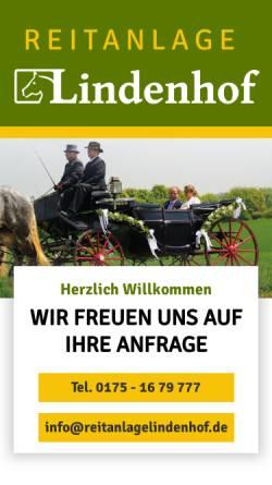 Vorschau der mobilen Webseite www.reitanlagelindenhof.de, Reitanlage Lindenhof