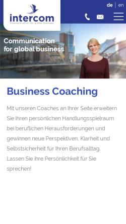 Vorschau der mobilen Webseite www.intercom-language.de, Intercom Language Services GmbH