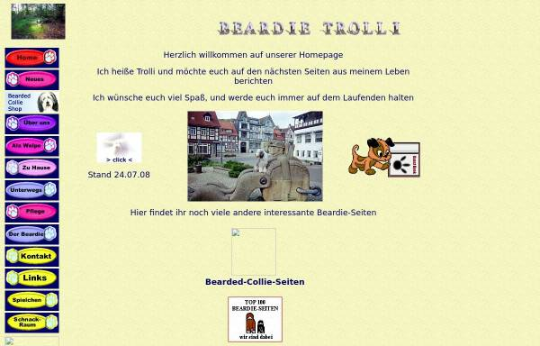 Vorschau von www.beardie-trolli.de, Bearded Collie Trolli