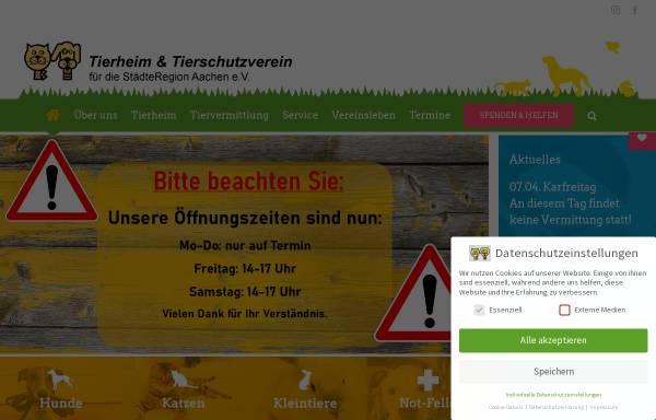 Vorschau von www.tierheim-aachen.de, Katzenhilfe Aachen e.V.