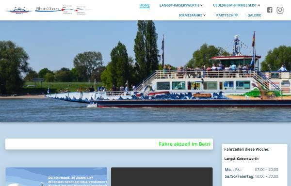 Vorschau von www.rhein-faehre.de, Rheinfähre zwischen Langst-Kierst und Kaiserswerth