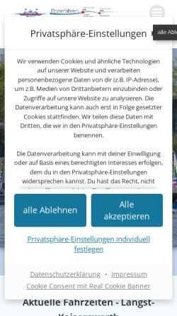 Vorschau der mobilen Webseite www.rhein-faehre.de, Rheinfähre zwischen Langst-Kierst und Kaiserswerth
