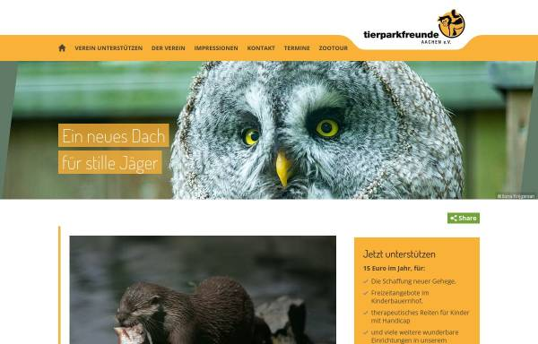 Vorschau von www.tierparkfreunde-aachen.de, Verein der Tierparkfreunde Aachen e.V.
