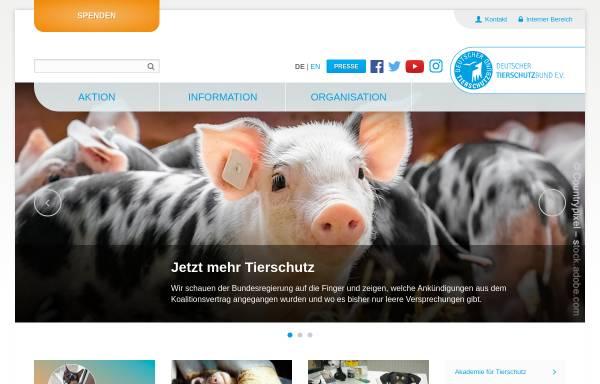 Vorschau von www.tierschutzbund.de, Deutscher Tierschutzbund e.V.