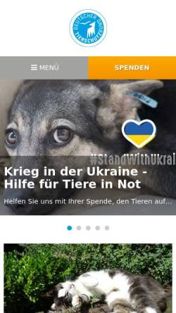 Vorschau der mobilen Webseite www.tierschutzbund.de, Deutscher Tierschutzbund e.V.