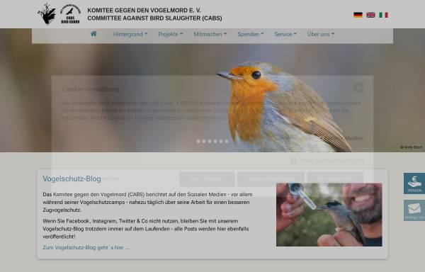 Vorschau von www.komitee.de, Komitee gegen den Vogelmord e.V.
