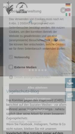 Vorschau der mobilen Webseite www.komitee.de, Komitee gegen den Vogelmord e.V.