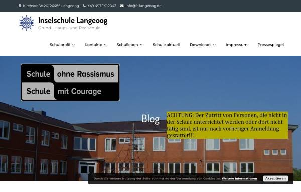Vorschau von www.inselschule-langeoog.de, Inselschule Langeoog