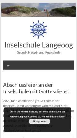 Vorschau der mobilen Webseite www.inselschule-langeoog.de, Inselschule Langeoog