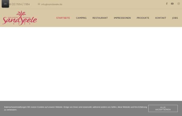 Vorschau von www.sandseele.de, Insel Camping Platz Sandseele