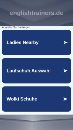 Vorschau der mobilen Webseite englishtrainers.de, Kotthaus GbR