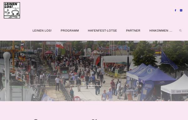 Vorschau von www.harburger-hafenfest.de, Leinen Los