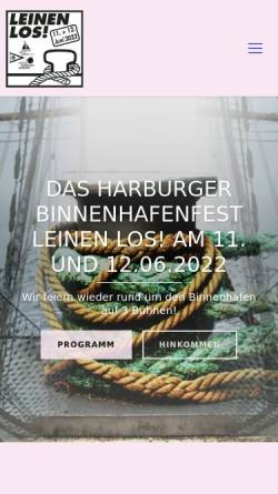 Vorschau der mobilen Webseite www.harburger-hafenfest.de, Leinen Los
